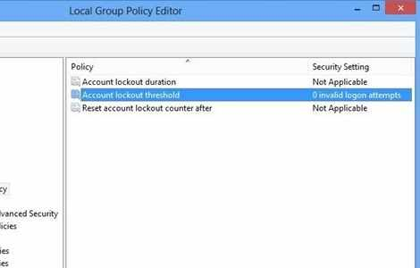 How To Set Lockout Policy In Windows 8 All That Nerdy Stuff