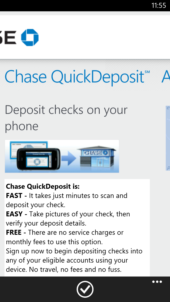 Chase QuickDeposit information - all that nerdy stuff
