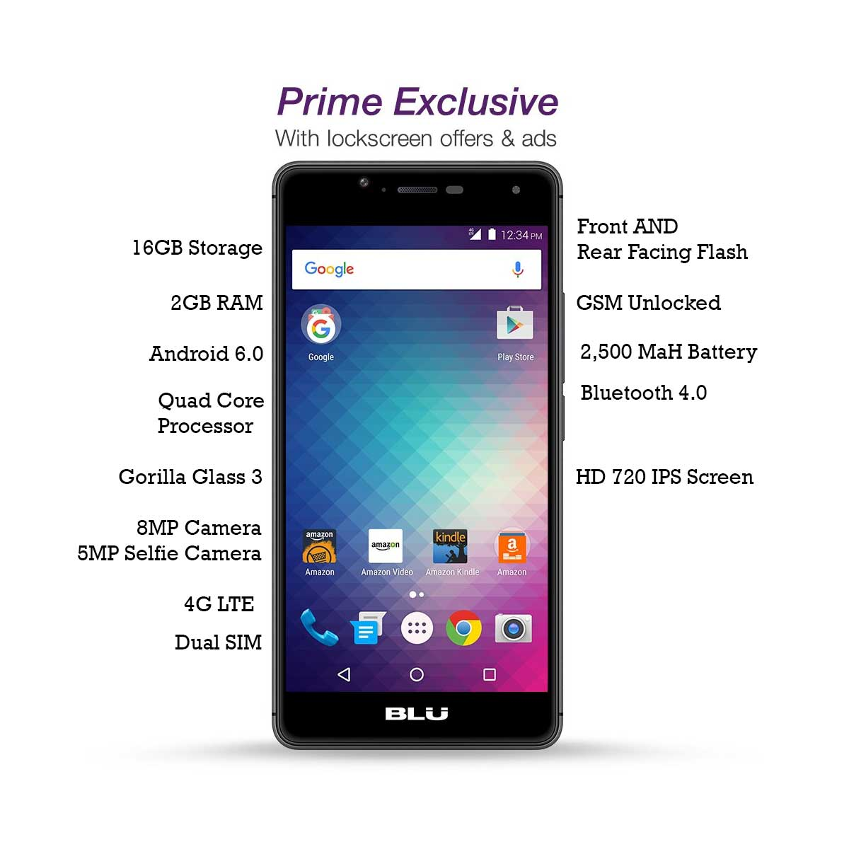 Amazon Offers Blu R1 HD Android 6 Phone for $50!